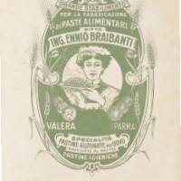 Pubblicità Braibanti degli anni '20, Archivio Storico Barilla - Parma – Italia.