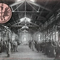 Interno dello stabilimento di Casaralta, 1915-1918, cartolina. Museo Civico del Risorgimento di Bologna