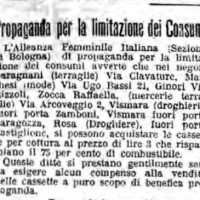 Propaganda per la limitazione dei consumi, in «Il Resto del Carlino», 28 giugno 1917