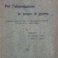 Luigi Carcano, Per l'alimentazione in tempo di guerra, Milano, 1918