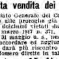 La vietata vendita dei dolciumi, in «Il Resto del Carlino», 8 giugno 1917
