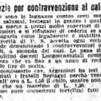 Denuncia per contravvenzione al calmiere, in «Il Resto del Carlino», 24 giugno 1917.