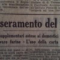 Il tesseramento del pane, in «Il Resto del Carlino», 28 settembre 1941.