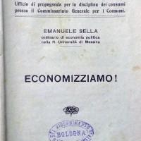 Emanuele Sella, Economizziamo!, [s.l.], 1917