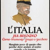 L'Italia ha bisogno di carne, frumento, grasso e zucchero, manifesto, Museum of Fine Arts, Boston