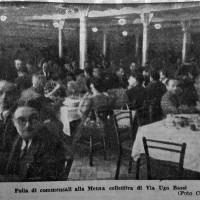 Folla di commensali alla Mensa collettiva di via Ugo Bassi, in «Il Resto del Carlino», 22 agosto 1944.