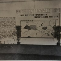 L'ente risi è un esperimento completamente riuscito, foto del padiglione dell'ente allestito durante la VI Fiera nazionale dell'agricoltura, in «Bologna. Rivista mensile del Comune», n. 4, aprile 1937.