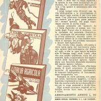 """Una pubblicità della """"Italia agricola"""" del 1941."""