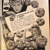 Risparmiate i grassi, condite tutto con la salsa Rubra, in «La donna, la casa, il bambino», luglio-agosto 1942.