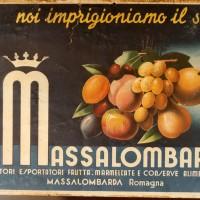 Etichette delle ditte di produzione e commercio di frutta e conserve alimentari di Massa Lombarda