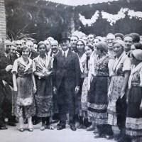 """Arturo Marescalchi inaugura la Festa dell'uva a Piacenza (1931), da """"Enotria"""" 1931"""