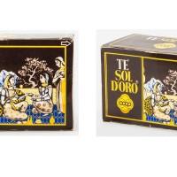 Bustine di tè con marchio di fantasia Sol d'Oro e logo Coop (1974)