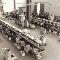 Cernitrici al lavoro a Vignola nel magazzino dell'azienda APCA