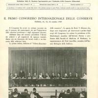 Ottobre 1937. Primo congresso internazionale delle conserve (archivio SSICA).