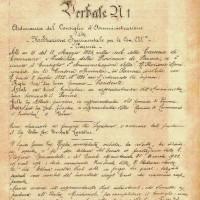 1923. Primo verbale cda SSICA (archivio SSICA).
