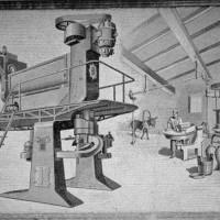 Sulla facciata della sua officina in via Bixio a Parma Tomaso Barbieri fece comporre un che rappresenta il sistema di produzione Braibanti, raffrontato all'antico sistema della gramola e del torchio azionati da forza animale.