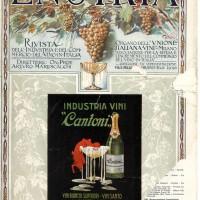 """Copertina rivista """"Enotria"""" con la pubblicità dell'Industria Vini Cantoni, Imola (gennaio 1924)"""