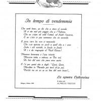 """Alfredo Testoni, In tempo di vendemmia, da """"Enotria"""", agosto 1925"""