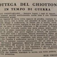 Bottega del ghiottone in tempo di guerra. Ragù vegetariano, in «L'Illustrazione italiana», 26 aprile 1941.