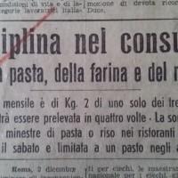 Disciplina nel consumo della pasta, della farina e del riso, in «Il Resto del Carlino», 2 dicembre 1940.
