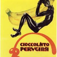 In questo manifesto pubblicitario degli anni Venti, un nuovo cioccolatino si ispira al prodotto coloniale, la grafica si adegua