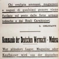 Minacce tedesche nei confronti della popolazione (foto: Istituto Storico di Modena).