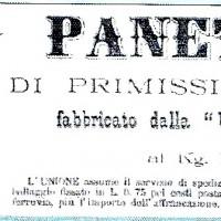Etichetta del panettone con il marchio dell'Unione cooperativa milanese (1896)