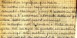 Dettato sull'autarchia, classe quarta elementare, anno scolastico 1938-1939, in www.matematica-old.unibocconi.it/giornatadellamemoria2007/quaderni.