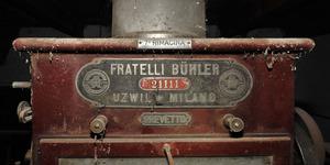 Una delle rimacine posizionate in serie - la fabbrica aveva sede in Austria con filiale Milano, Massimo Brunelli - Associazione Amici delle Vie d'Acqua e dei Sotterranei di Bologna / Bologna sotterranea®.