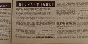 Le ricette di Annabella. Risparmiare!, in «Annabella», n. 6, 25 giugno 1940.