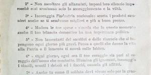 Opere federate di assistenza e propaganda nazionale, Decalogo della donna italiana in tempo di guerra, Roma, 1918
