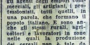 Appello agli agricoltori per gli ammassi, in «Il Resto del Carlino», 13 luglio 1944.