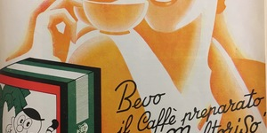 Bevo il caffé preparato con il maltoriso Arrigoni. Succedaneo al caffé coloniale, in «L'Illustrazione italiana», 17 maggio 1936, n. 20.