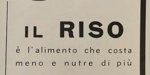Il riso è l'alimento che costa meno e nutre di più, in «L'Illustrazione italiana», n. 27, 7 luglio 1935.