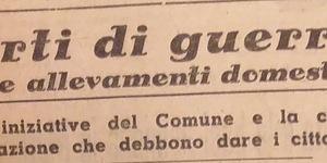 Orti di guerra e allevamenti domestici. Le iniziative del Comune e la collaborazione che devono dare i cittadini, in «Il Resto del Carlino», 10 settembre 1941.