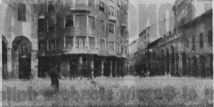 Grano nelle vie della città, in «Il Resto del Carlino», 17 giugno 1942.