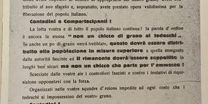 Il grano dell'Emilia non deve finire nelle mani dei tedeschi, volantino, in La Resistenza a Bologna, vol. IV, p. 289.