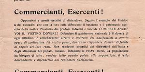 Appello ai commercianti del Partito comunista  (foto: Istituto Storico di Modena).