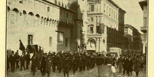 L'autotreno del grano a Bologna, in «Il Comune di Bologna, rivista mensile del Comune», ottobre 1930, Biblioteca dell'Archiginnasio, Bologna