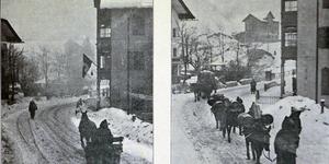 Rifornimenti per le vie di Cortina d'Ampezzo, in «L'Illustrazione italiana», 3-10 dicembre 1916, nn. 49-50, p. 456, Istituto per la storia e le memorie del '900 Parri E-R.