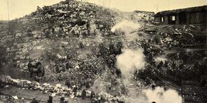 Un nostro accampamento nell'ora del rancio, in «L'Illustrazione italiana», 23 dicembre 1917, n. 51, p. 533, Istituto per la storia e le memorie del '900 Parri E-R.