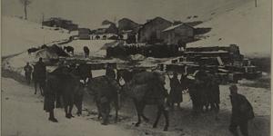 Rifornimenti verso le prime linee, in «L'Illustrazione italiana», 6 gennaio 1918, n. 1, p. 12, Istituto per la storia e le memorie del '900 Parri E-R.