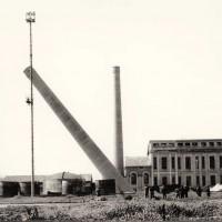 Zuccherificio di Mezzano in costruzione [1908]. Giulio Bagnari