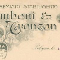 Pubblicità stabilimento Zamboni, 1917
